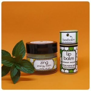 refresh gift set of zing energy balm and amaze mint lip balm for when you're tired and need a burst of freshness